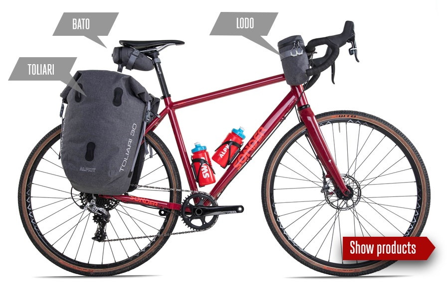 Cycle Touring Luggage Bundle - Hauling bigger loads over longer distances using traditional racks and panniers.