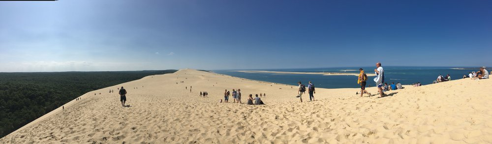 The view at the top of Dune de Pilat