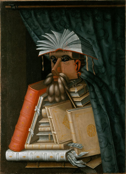 """The Librarian"" by Giuseppe Arcimboldo (circa 1570)."