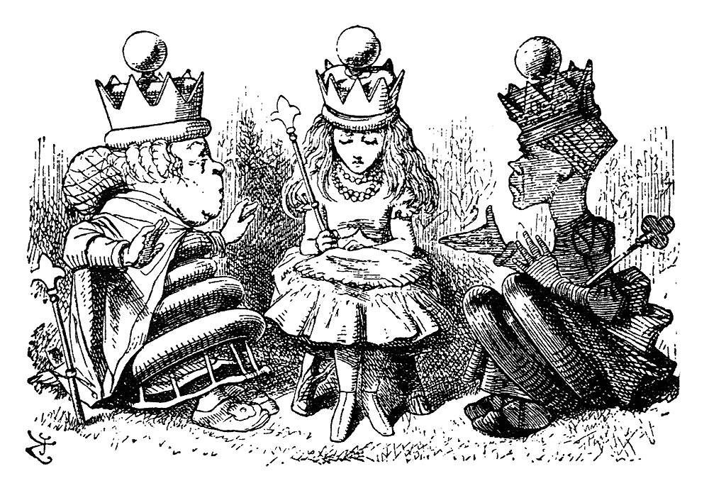"From ""Through the Looking Glass"", 'Queen Alice' by John Tenniel."