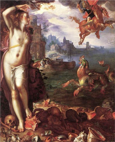 """""""Perseus Rescuing Andromeda"""" by Joachim Wtewael, c. 1611."""
