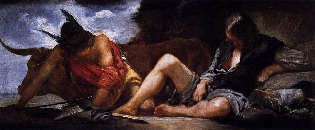 Mercury and Argus, circa 1659 by Diego Velázquez.