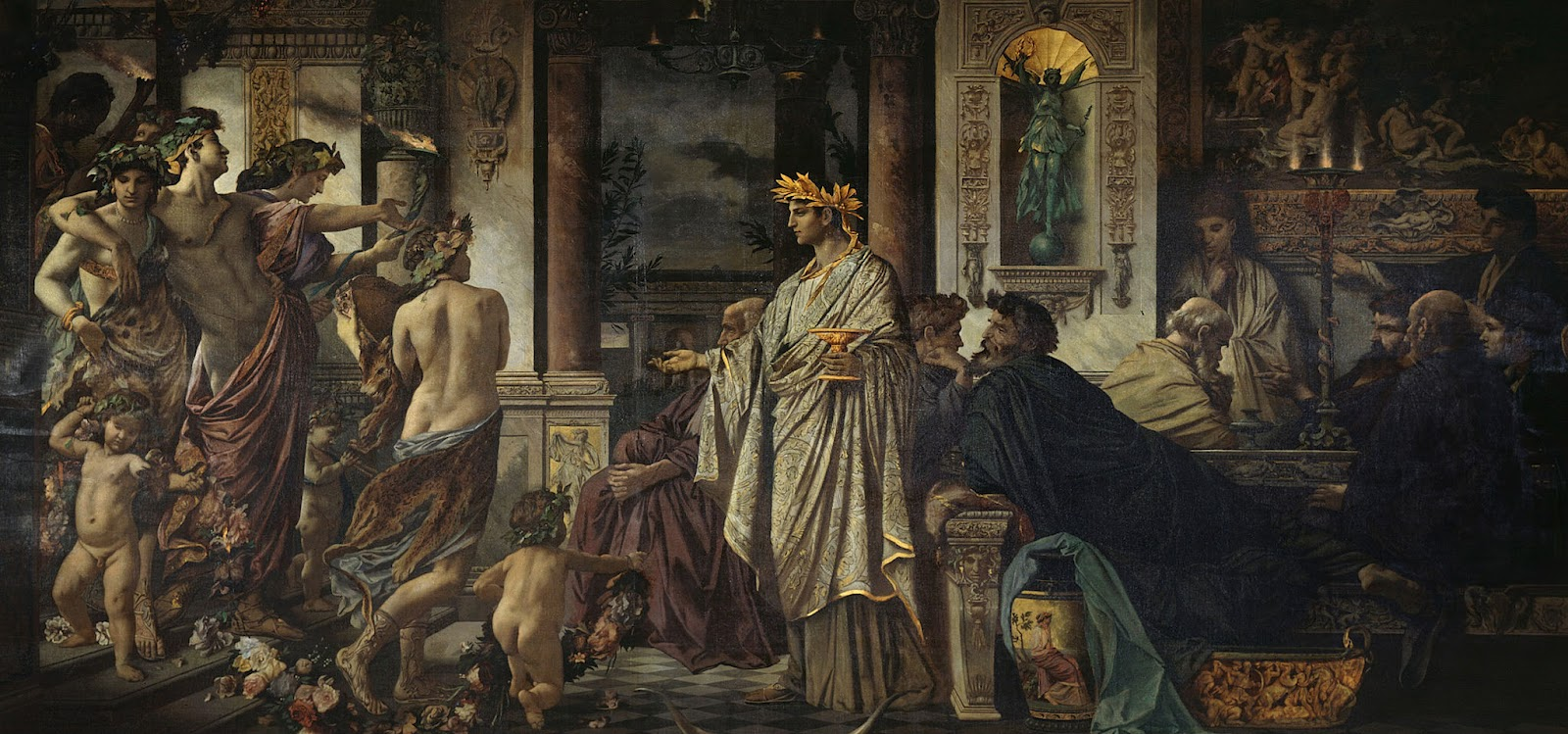 The Symposium (Second Version),  by Anselm Feuerbach