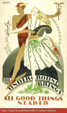 Poster commissioned by the Underground Electric Railway Company in 1932.