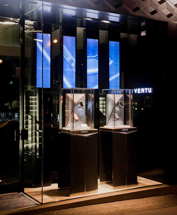 digital window strategy . retail stores . worldwide