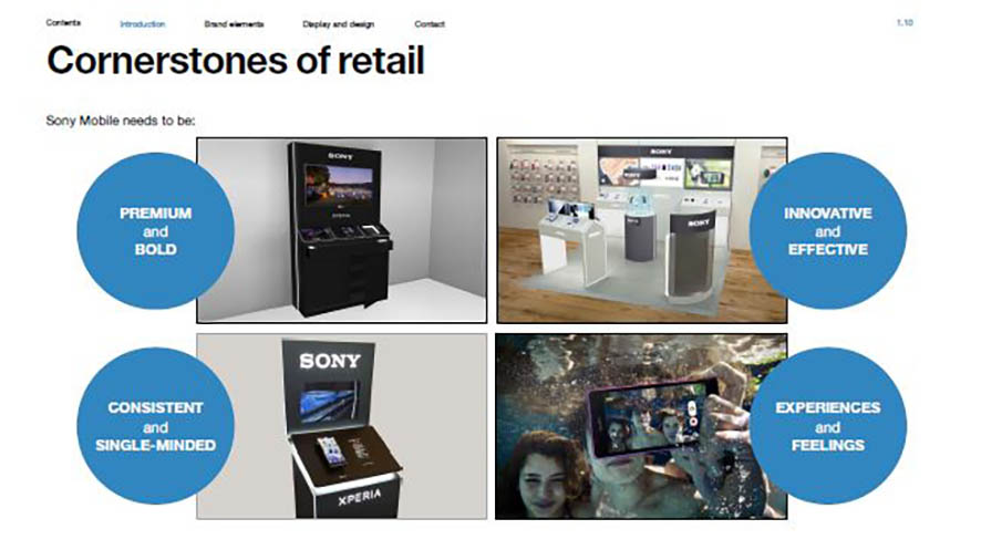 Sony Mobile . in-store visibility guidelines . mobile operators . worldwide