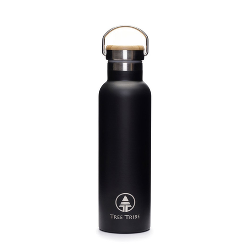 20oz Black Steel Water Bottle