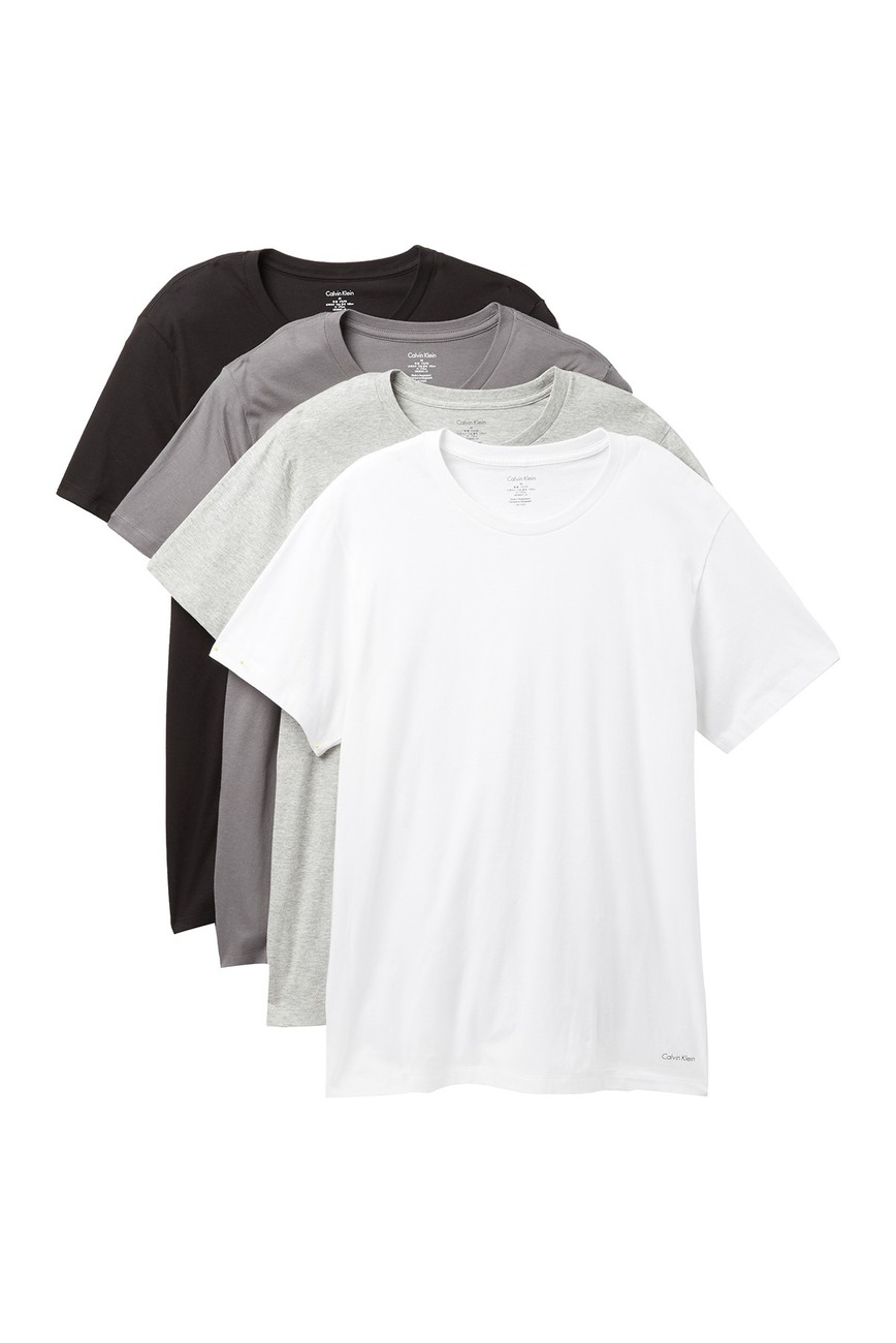 699bbf12 50% OFF 4-Pack of Calvin Klein Crewneck T-shirts — Menswear Deals