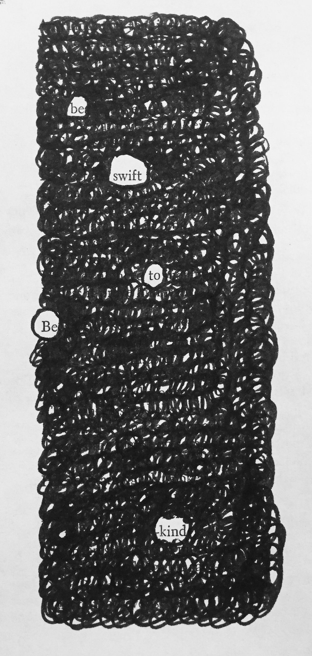 swift — a blackout poem by drew myron