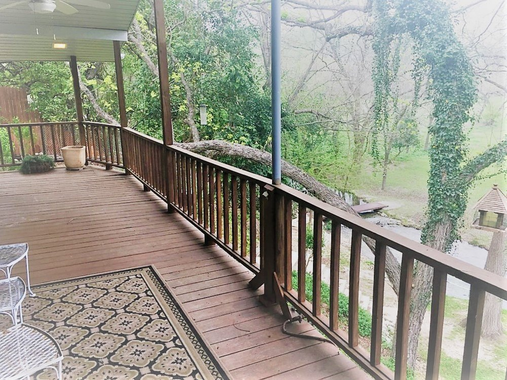 View from your private deck overlooking the Frio Springs.