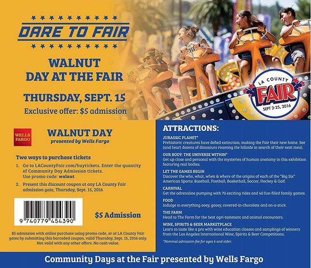#WalnutDay is coming to the #LACountyFair in a few weeks! Help us celebrate our amazing city!