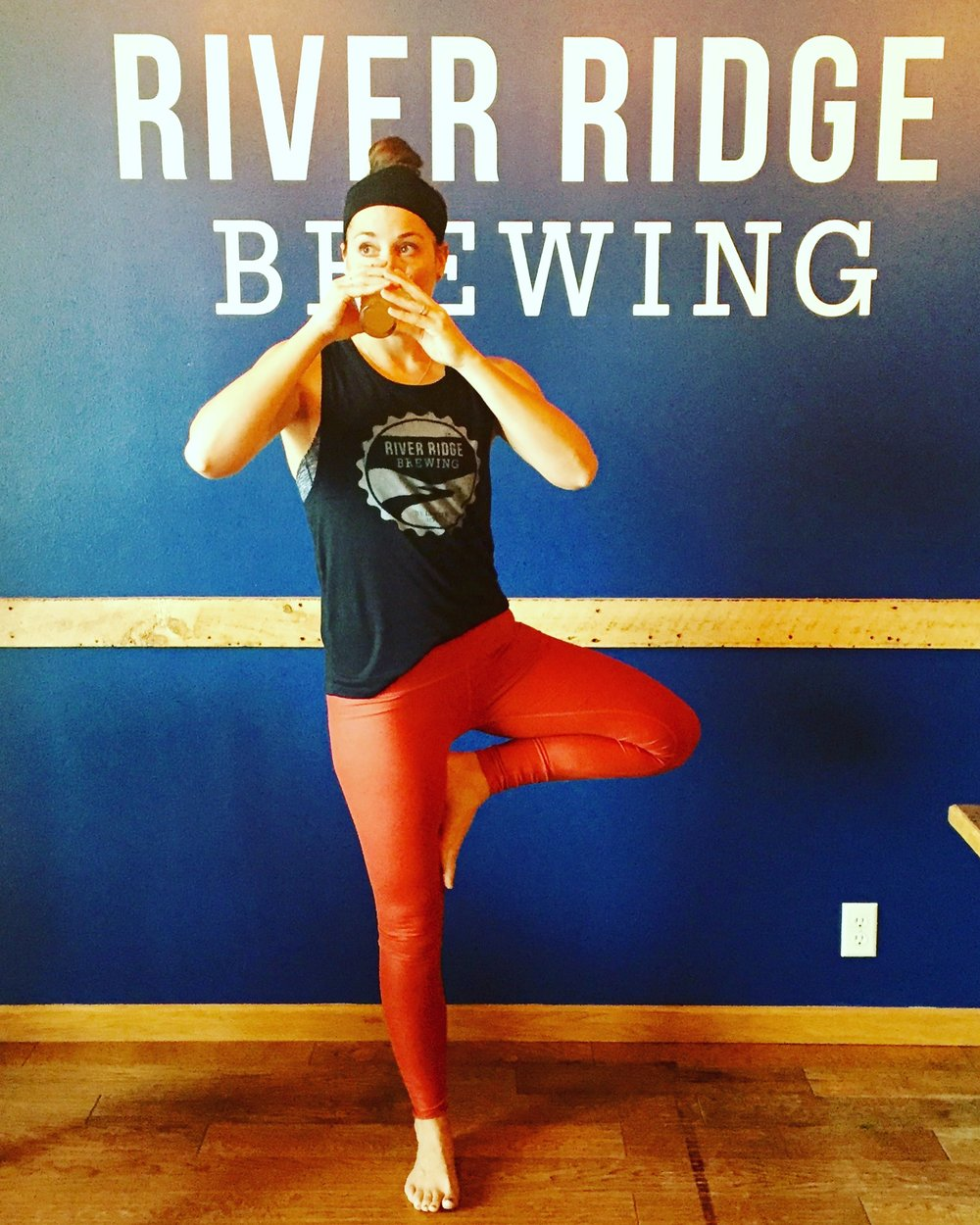 Namaste + Cheers! My 2 favorite things - BEER & YOGA! By far my favorite event we do at River Ridge Brewing.