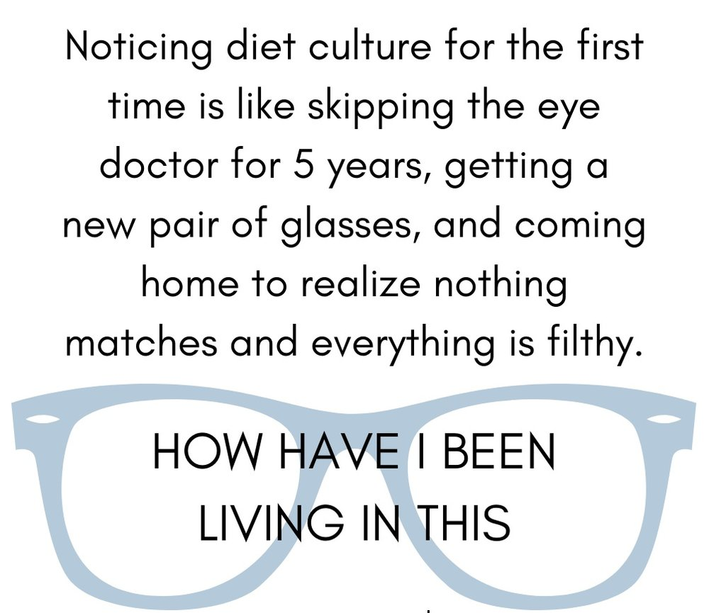 noticing diet culture