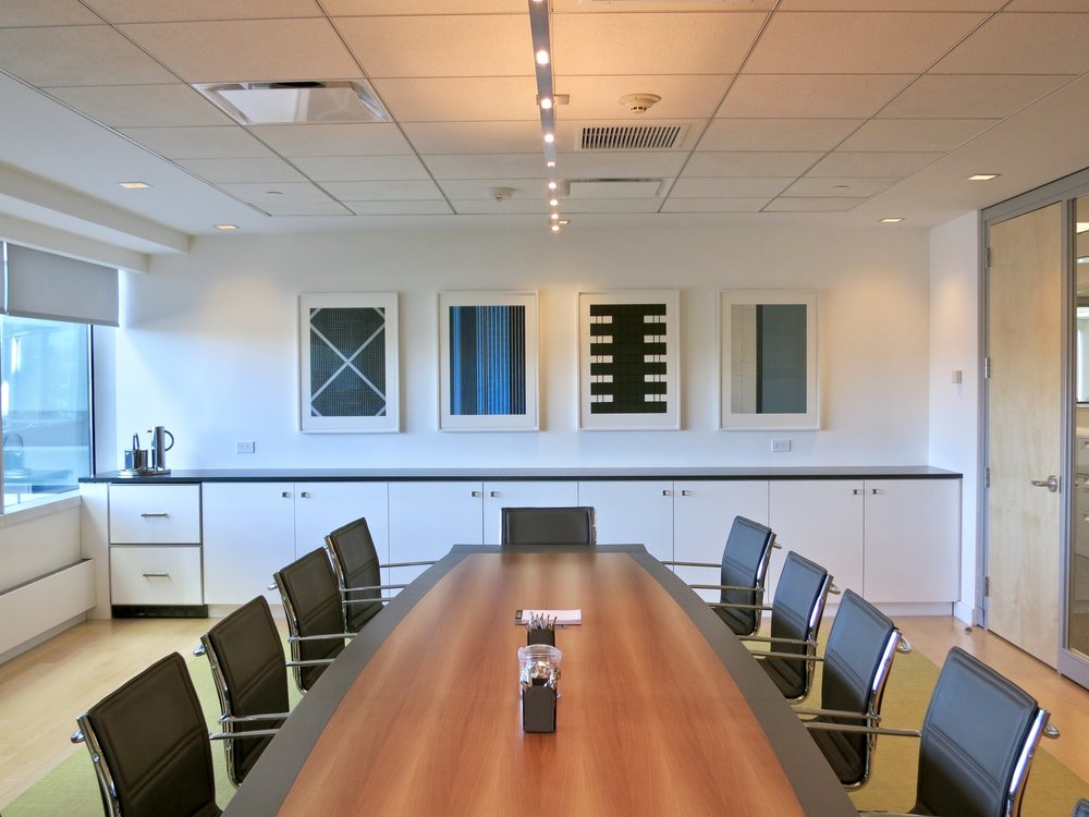Insurance company conference room.