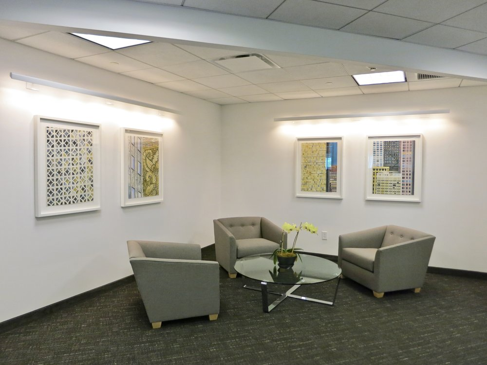 Insurance company client waiting lounge.