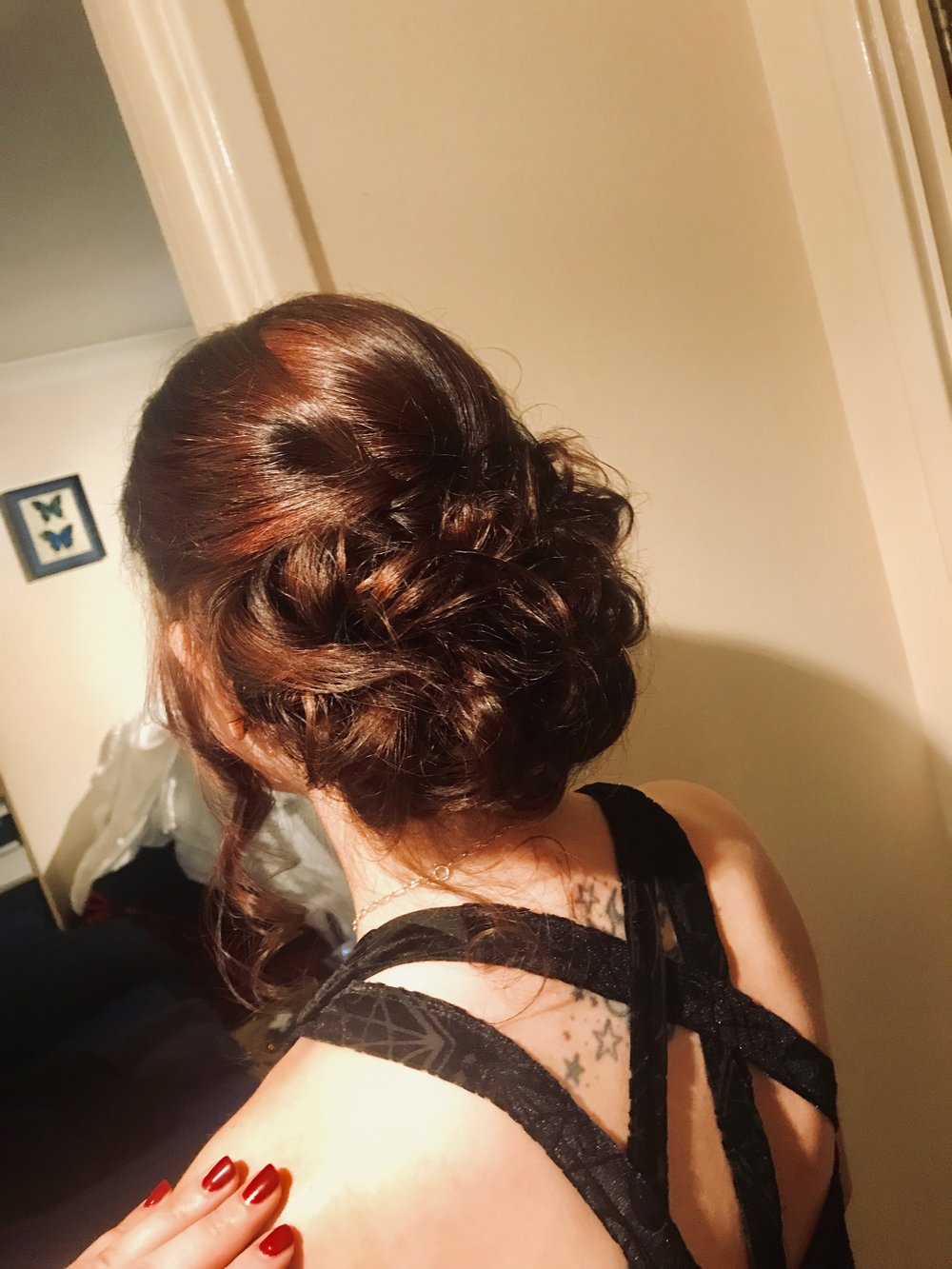 A GORGEOUS HAIR UP IS A MUST FOR EVERY BLACK TIE EVENT
