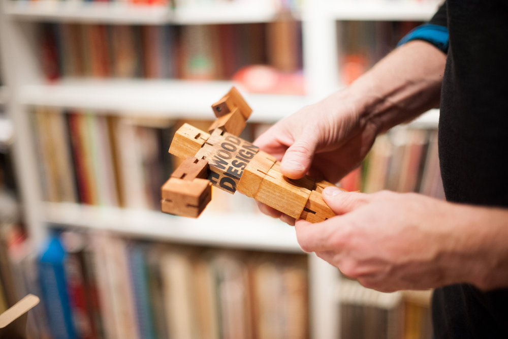 Touchwood Design is as flexible with their clients as this wooden guy. Turn, twist and call Touchwood Design.