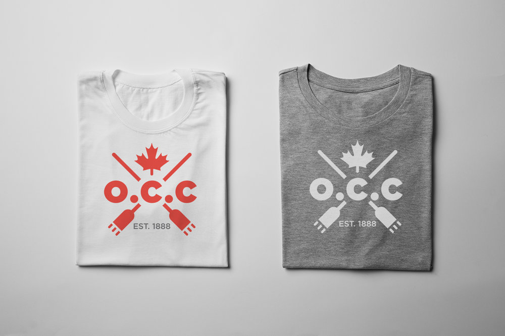 T-shirt design for The O.C.C. (Ontario Curling Club). Be proud of your brand and wear it!