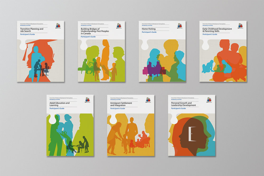 Covers for HIPPY Canada with flat art design that is inclusive to their brand.