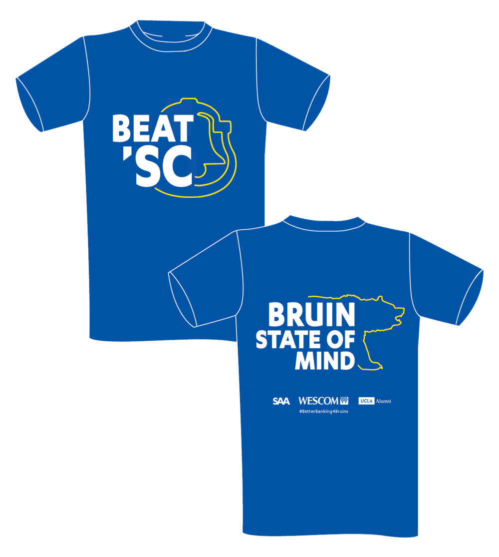 Updated event logo and t-shirt design for the Beat 'SC football game.