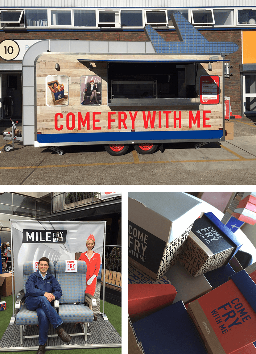 Come Fry With Me was first brought to life through a series of experiential events around London.