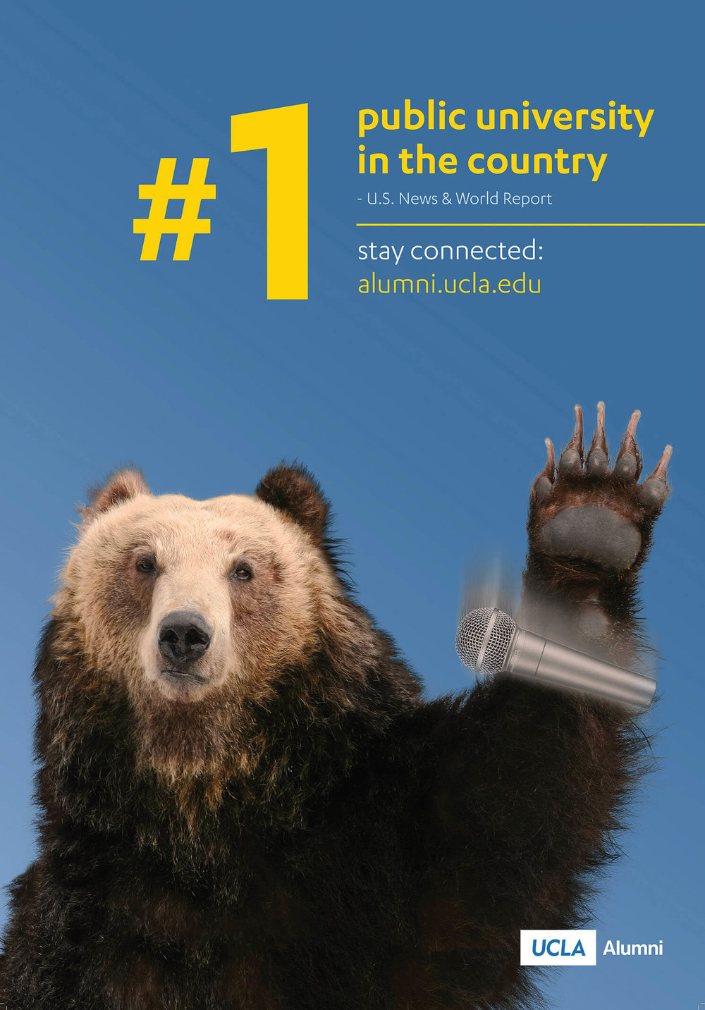 This magazine ad and poster capitalizing on the fact that rankings are UCLA Alumni's best performing content (and they had something to brag about.