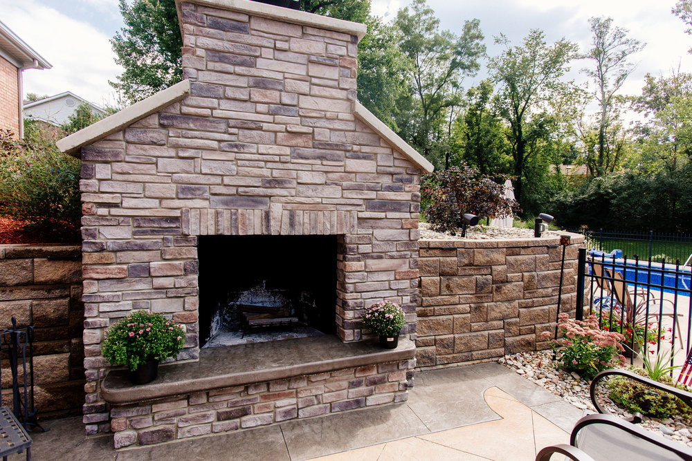 DRY STACK - Retaining WallsOutdoor Stone Fireplaces