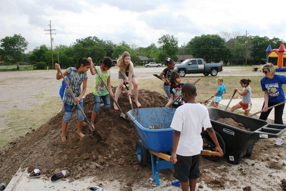 We sponsor… - an all-school service project each quarter.