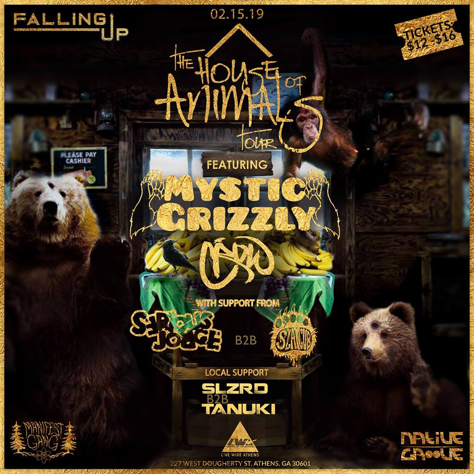 FRIDAY   FEBRUARY 15TH, 2019 MYSTIC GRIZZLY AT LIVE WIRE ATHENS