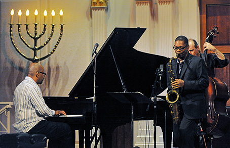 Jazz musician Ravi Coltrane performs at the Sixth & I synagogue in Washington, DC.