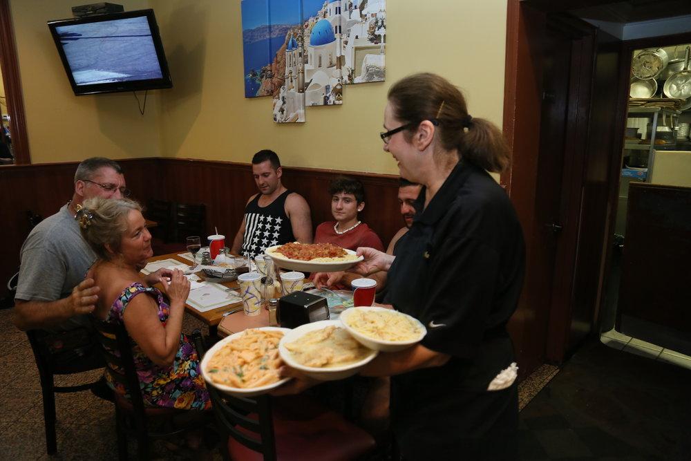 Pasta Night at Aegean Pizzeria of Holbrook
