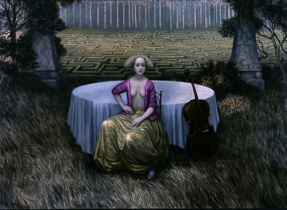 Magenta in a Rhythmic Landscape
