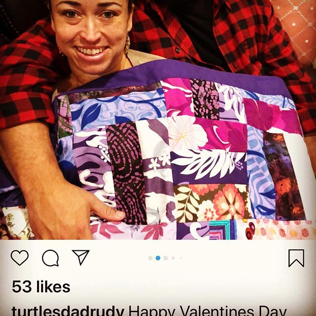 #TBT when @turtlesdadrudy ordered a blanket for his love as a gift for Valentine's Day. . . . #lokelanisroti #lokelanilooks #polynesianinspired