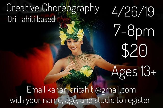 Kanani Lokelani Workshops🖤 Let's get together and dance the night away. I want to bring out the Woman in you through movement, fueled by great music❤️ tag a friend and I'll see you next Friday! #kananilokelani #lokelanisroti #polynesia