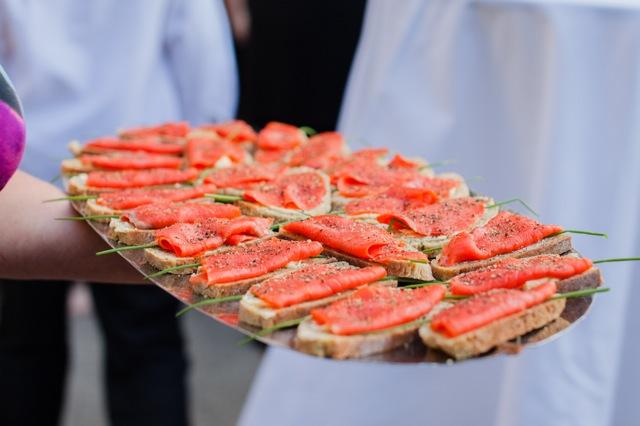 Smoked salmon on irish brown bread