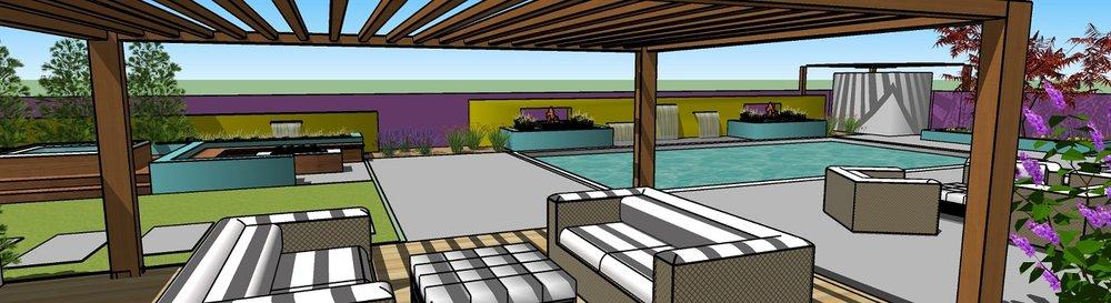 Landscape design with Pergola in Reno, NV