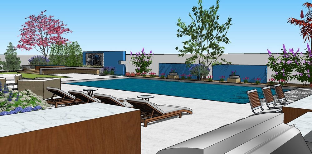 Pool designs and landscape architecture in Renom, NV