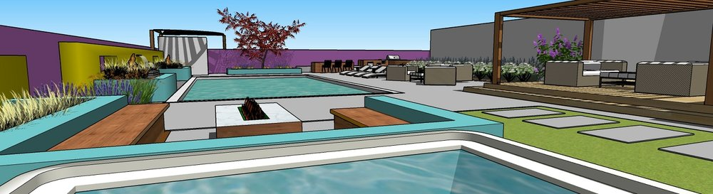 Copy of Outdoor living area with pool and spa in Reno, NV