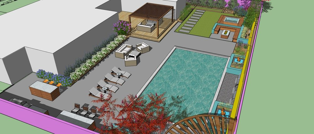 Outdoor living area and pool designs in Reno, NV
