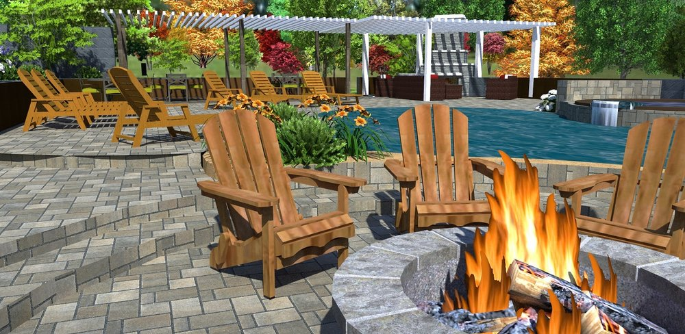 Copy of Outdoor fireplace with patio pavers in Reno, NV