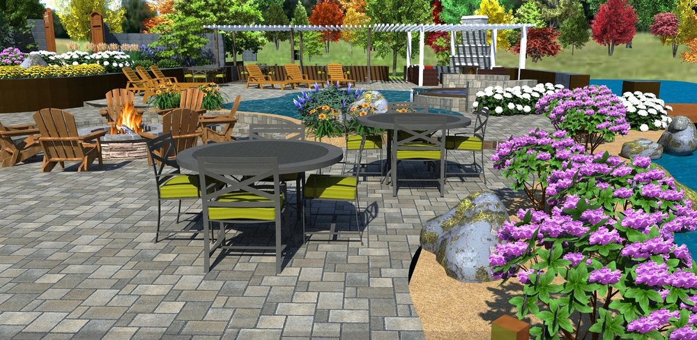 Backyard landscaping with quality patio pavers in Reno, NV
