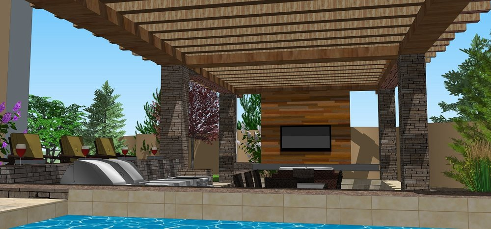 Copy of Outdoor kitchen with pergola in Reno, NV