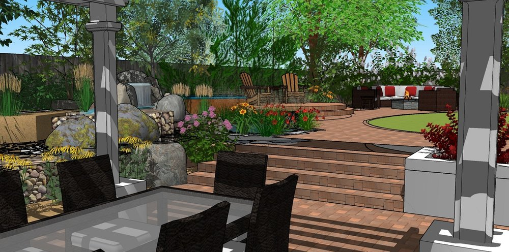 Copy of Patio with pergola and outdoor kitchen in Reno, NV