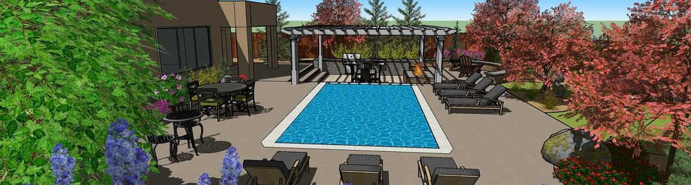 Pool designs with pergola in Reno, NV