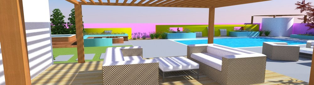 Copy of Patio with pergola, outdoor fireplace and outdoor kitchen in Reno, NV