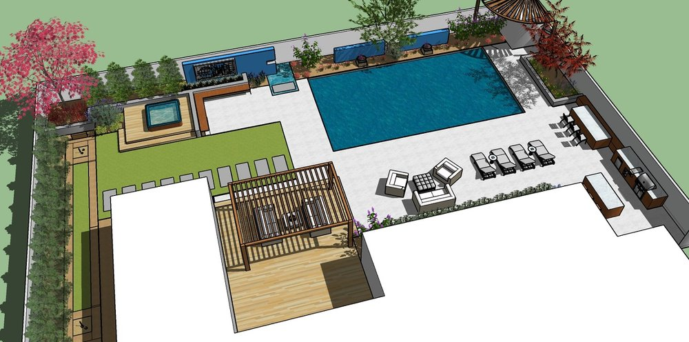 Copy of Pool and spa, patio and outdoor fireplace in Reno, NV