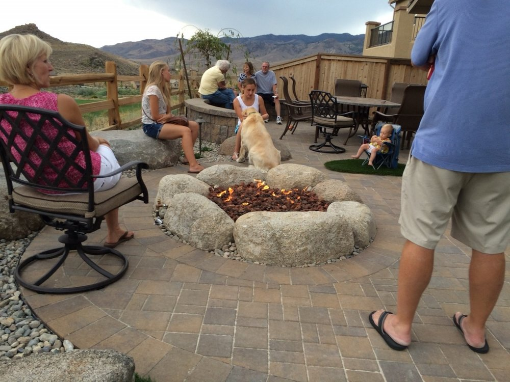 Top quality patio pavers with outdoor fireplace in Reno, NV