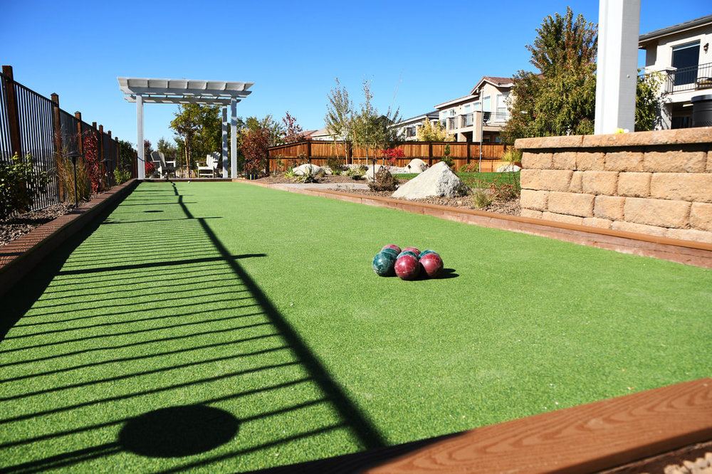 Stunning landscape design with pergola in Reno, NV