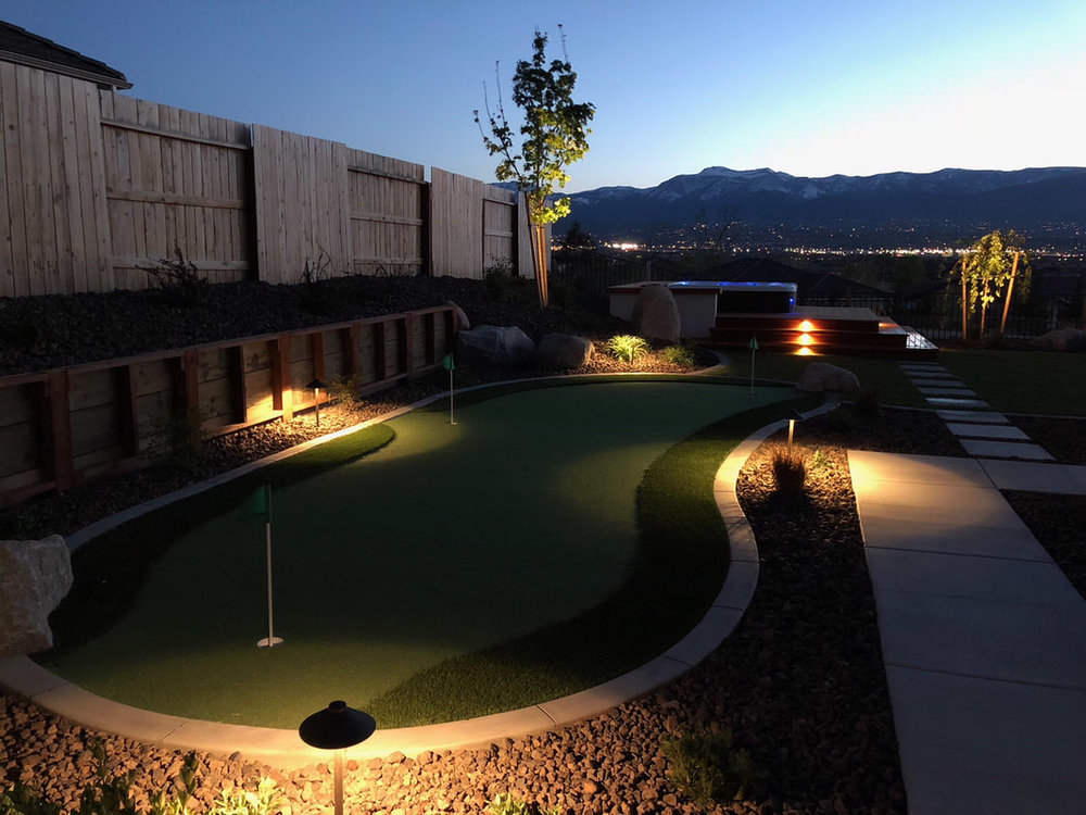 Landscaping services for retaining wall in Reno, NV
