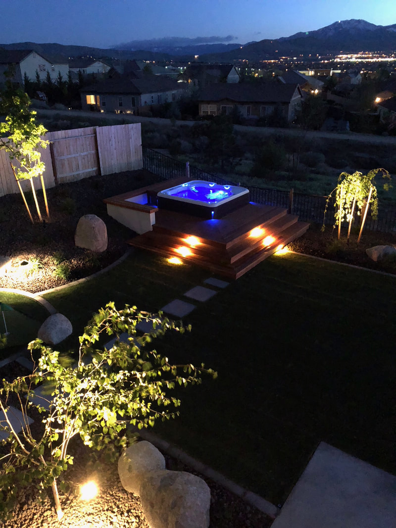 Outdoor living with pool and spa in Reno, NV